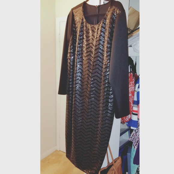 c14be5aa7a1 Black sequin dress. NWT. Eloquii